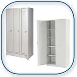 Armoires: FANAIR vous propose des armoires pour les services, le stock, les ateliers et les bureaux Armoire vestiaires, armoires à matériel, armoires de nettoyage, armoires avec des bacs plastiques. Armoires vestiaires en différentes largeurs et profondeurs, armoires vestiaires avec bancs. Armoires vestiaires métalliques en différentes configurations. Armoires à matériel à portes battantes, armoires à portes coulissantes, armoires sans portes. Armoires avec ou sans portes pré-équipées de bacs à becs, nombre-taille-couleur des bacs selon votre choix. Armoires denettoyage avec serrure à cylindre.